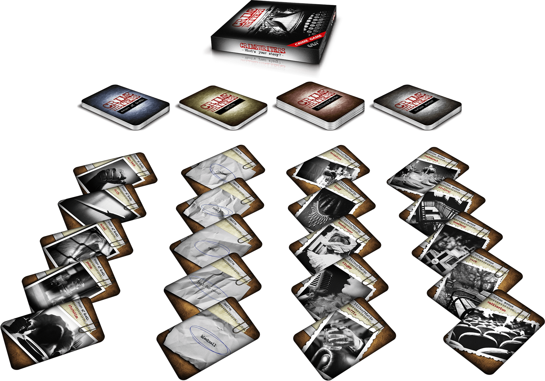 Crime writers | Game boxing and contents